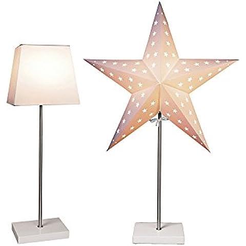 Bestseason - Lampada a stelo con stella su base