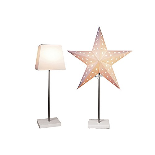 """Bestseason Floor Lamp Star On Base \""""Combi-Pack\"""" beige 52,5 x 20 cm"""