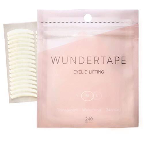 """Scopri offerta per strisce adesivi per palpebra cadente WUNDERTAPE """"M"""" (240 pz) - nastro correzione invisibile delle palpebre cadenti senza chirurgia"""