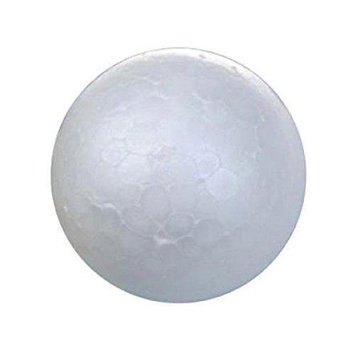 Palla in schiuma - TOOGOO(R) 20 X bianco decorazioni a sfera di albero di Natale palla di modellazione artigianale pallina di polistirolo 7cm