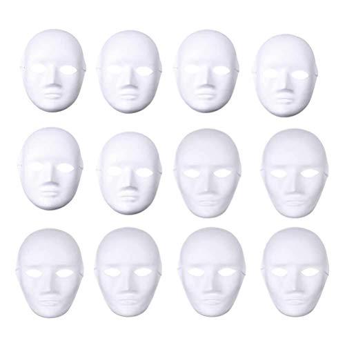 Entwerfen Sie Ihre Eigenen Halloween Kostüm - LSTC 24pcs weiße Gesichtsmasken männlich