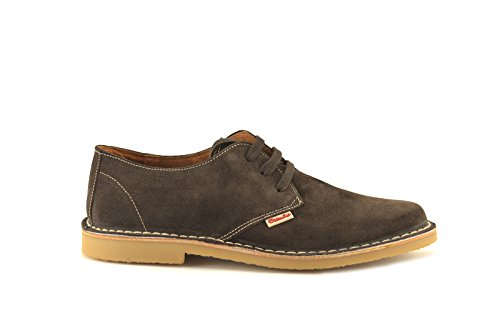 CONBUENPIE  400, Chaussures de ville à lacets pour homme Marron