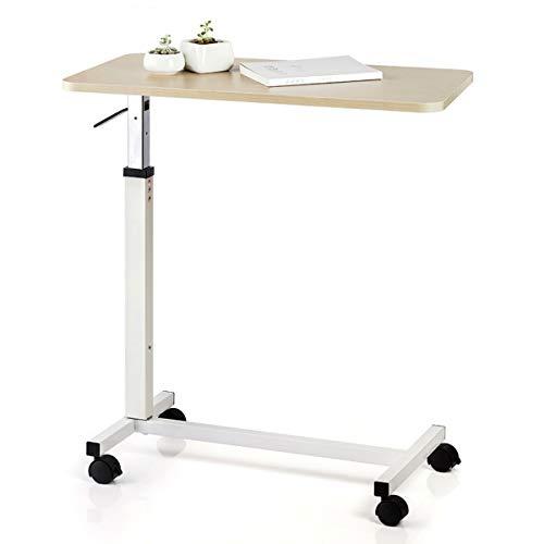 Ajustable sobre la cabecera, mesa de cama médica del hospital, escritorio de la mesa de cama, mesa auxiliar para sofá móvil, escritorio de computadora para leer, comer, postrado en cama, ancianos