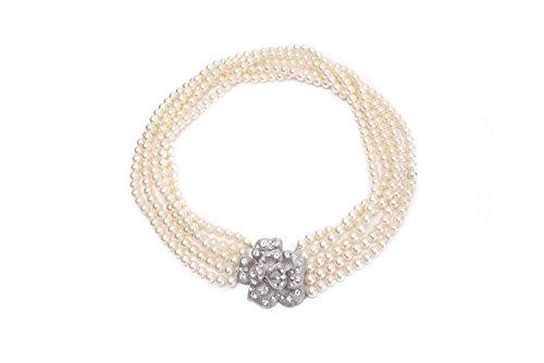 Halskette mit Perlen, getragen von Audrey Hepburn in Breakfast at Tiffany (Perle Halskette)