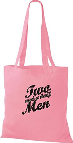 ShirtInStyle Jute Stoffbeutel TWO AND A HALF MEN Kult Beutel, diverse Farbe, classic pink