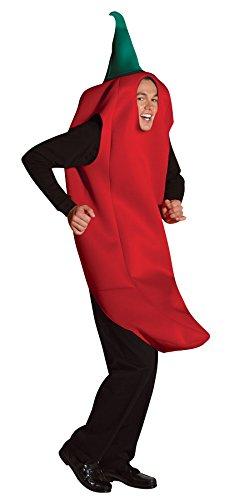 Generique Geniales Chili-Kostüm für Erwachsene - Für Erwachsenen Chili Pepper Kostüm