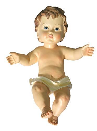 Gesu' bambino presepe lunghezza 20 cm statua bambinello jesus 25413