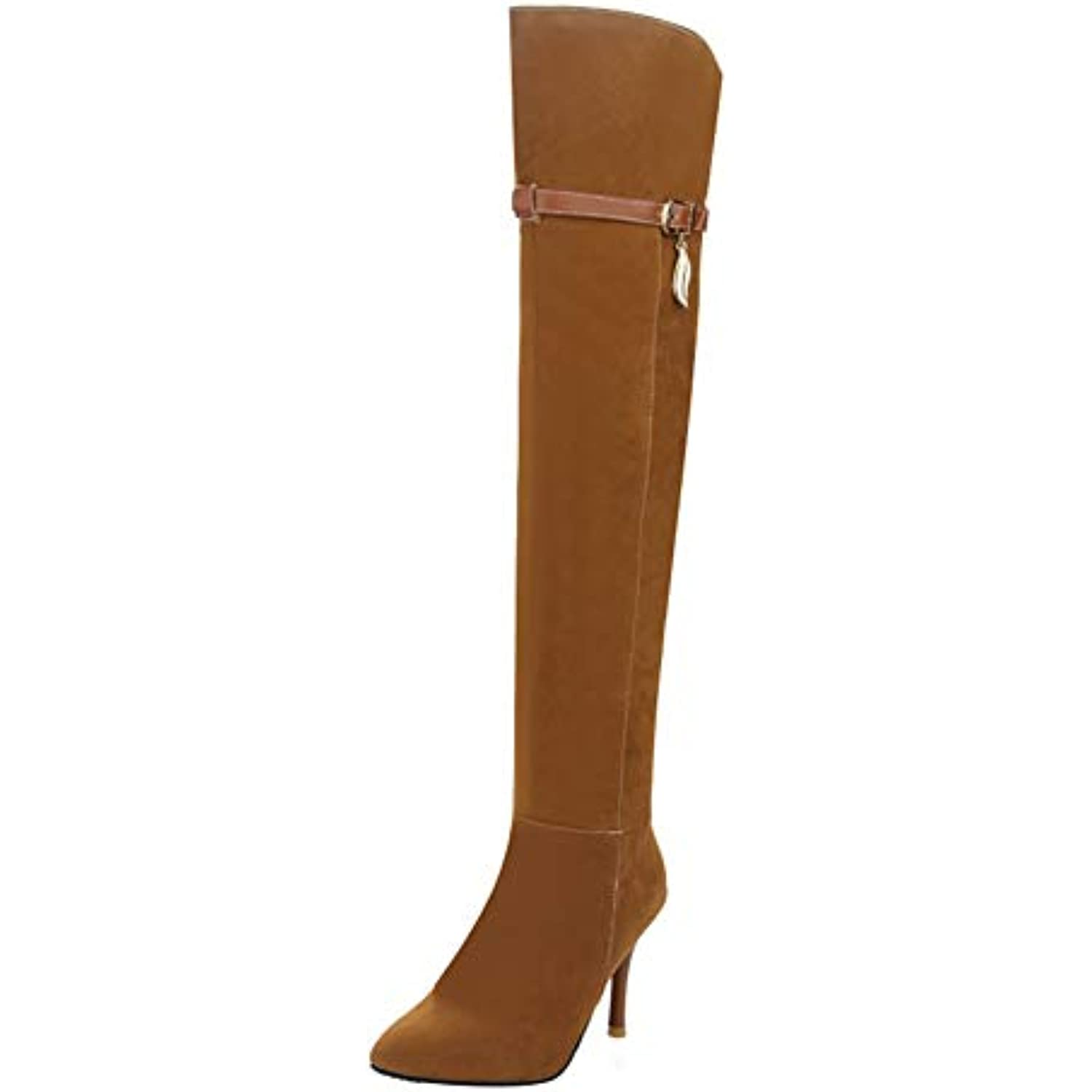 Longue Knee Chaussure Femme Sexy Botte Cuissarde Boots Ye Pointu p0qwxFEq