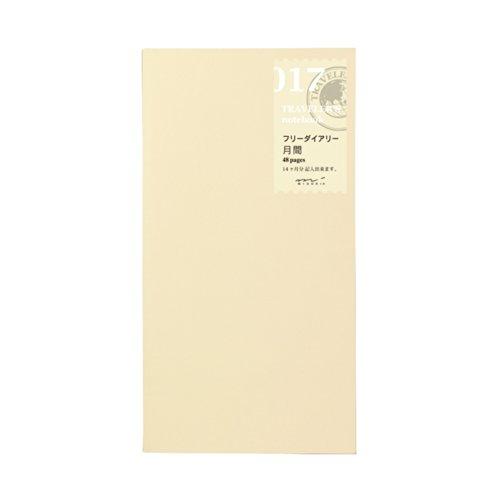 1 X Midori Traveler's Notebook (refill 017) Monthly Diary by Traveler's Notebook