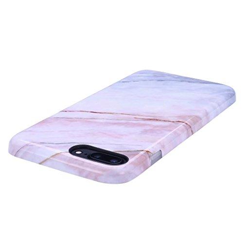 Cover iPhone 6/6S Plus marmo nero silicone Guscio morbido DECHYI TPU silicone e IMD disegno marmo Custodia serie -Nebulosa nera Pietra di quarzo