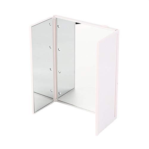 Jasnyfall Super Helle Led-leuchten Faltbare Dreibettzimmer Spiegel Mit Magnetischer Öffnung Kosmetikspiegel Drop Shipping Großhandel (weiß)