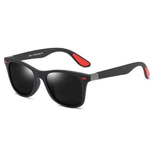 Linana occhiali da sole aviator con montatura quadrata polarizzata per uomini e donne (color : #3)