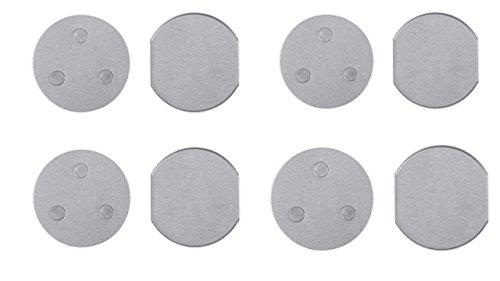 Smartwares RMAG60/4 Magnetbefestigung für Mini Standard-Rauchmelder, 6cm, 4er Set 6 cm Durchmesser, 4 Stück