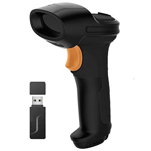 2.4GHz Drahtloser Barcode-Leser des Laser-Scanner-1D for Eilsupermarkt-Lager, 2600mAh (Color : Black)