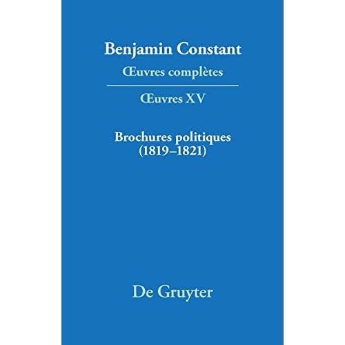 Brochures Politiques 1819-1821