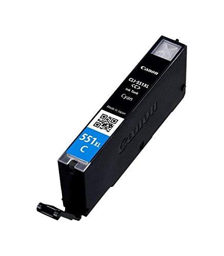 Canon CLI-551XL C original Tintenpatrone  Color Cian für Pixma Inkjet Drucker MX725-MX925-MG5450-MG5550-MG5650-MG6350-MG6450-MG6650-MG7150-MG7550-iP7250-iP8750-iX6850