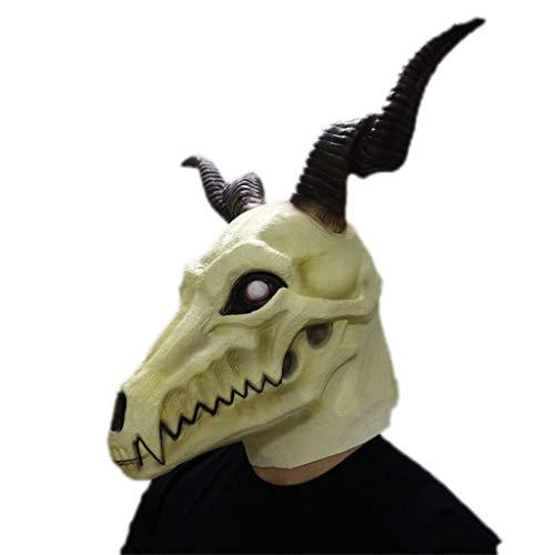 Bloody Kostüm Kinder Braut - GXDHOME Latex Kopf Maske, Halloween Die alte Magus Braut Anime Cosplay Elias Ainsworth Horror Geist Kostüm Teufel Bloody Creepy Kostüm