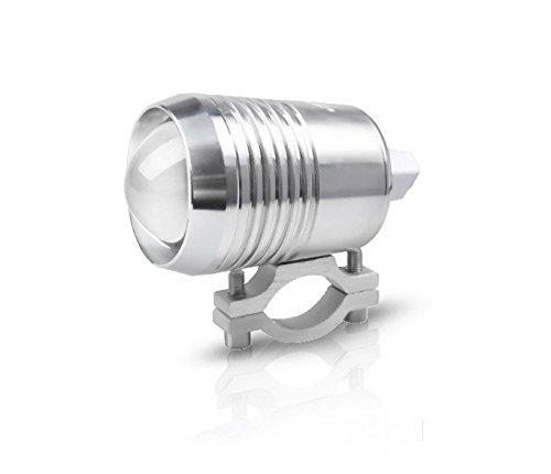 Zantec High Power 15W extraposition LED-Projektions-Scheinwerfer Nebel Lampe für Auto Motorrad silber