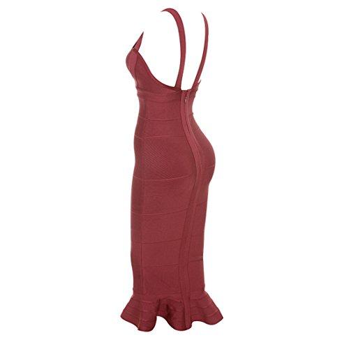HLBCBG Damen Kleid rot rot 36 Dunkelrot