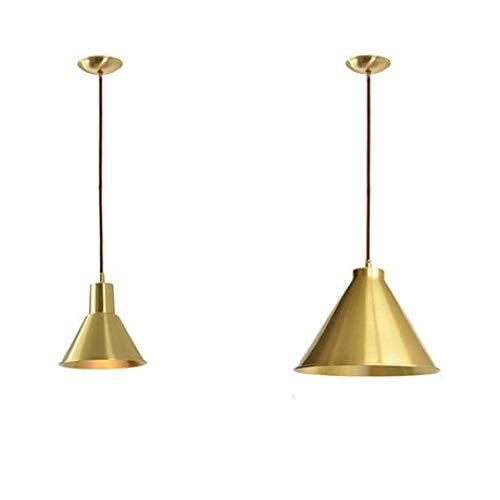Pendelleuchte Decken-Leuchte Nordic All-Copper postmodernen minimalistischen Wohnzimmer Retro Creative Cross Single Head Kronleuchter -