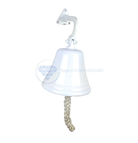 Antike Schiff Glocke (Marineblau Nautische Schiff der 's Aluminium CAST Premium Bell | Kinderzimmer Decor Geschenke | NAGINA International, weiß, 18 cm)