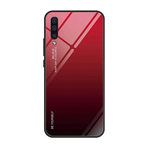 Hülle kompatibel mit Samsung Galaxy A50 360 Grad Full Body Schutz 9H Tempered Glas Stoßfest Anti-Fall Hülle Multicolor Cover Schutz Outdoor Hülle Galaxy A30 Komplettschutz Handy Case (Galaxy A50, 5) -