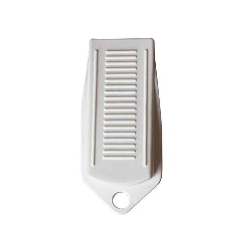 FiedFikt Türstopper Gummi Türstopper Keil Sicherheits-Türstopper für alle Bodenarten und Teppich-Türstopper weiß -