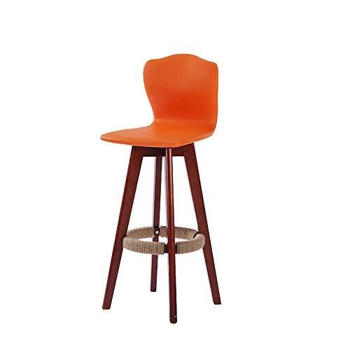 ch-AIR Chaise de Salle à Manger/siège de Bar,Chair Chaise en Bois Massif avec Dossier Haut Room Salon/Réception / Salon de beauté/Salon de Coiffure/Tabouret,63cm,* 03