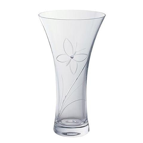 Dartington Crystal – Large Butterfly Glitz Vase