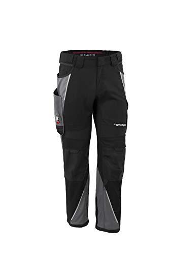 Grizzlyskin Bundhose Iron - Unisex Workwear Arbeitshose für Männer und Damen mit vielen Taschen, Cordura-Schutzhose, Farbe: Schwarz/Grau, Größe: N50