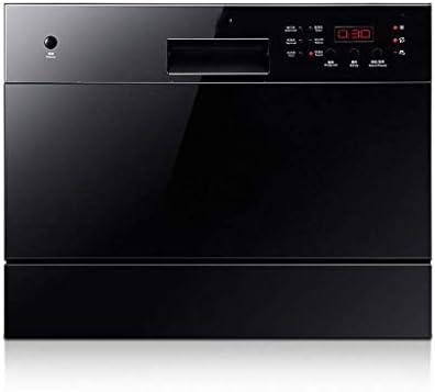 Gpzj Mini lavavajillas de encimera Compacto 6 configuraciones de Lugar Lavavajillas Empotrado portátil para Cocina de Apartamentos pequeños, Ahorro de energía, Blanco