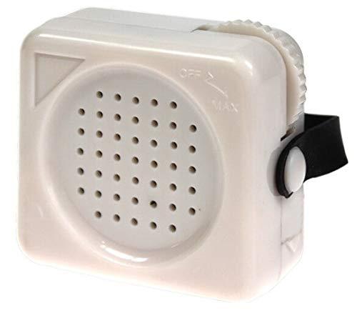 Hörverstärker für das schnurgebundene Telefon (Hörhilfe, Befestigungsband, Lautstärkeregler)