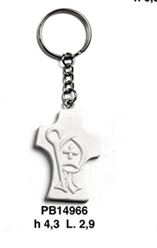 12 pezzi portachiavi croce resina santa cresima bomboniera