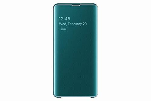 Samsung EF-ZG975CWEGWW Clear View Custodia per S10+, Bianco