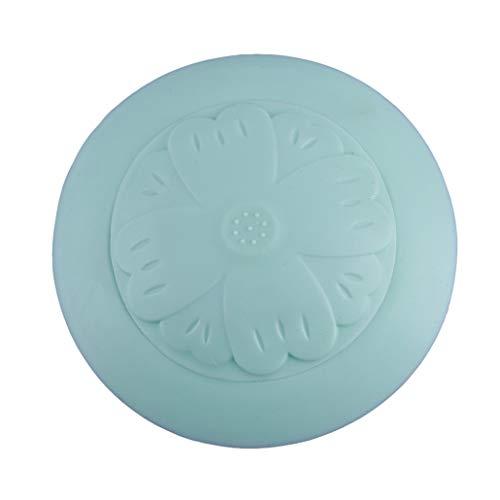 NYAOLE Bodenablauffilter, Blumen-Form, für Badezimmer, Badewanne, Stöpsel für Dusche, Waschbecken, Abfluss, Badewanne, Stopper, Kunststoff, Küche, Spüle, Haare, Anti-Block-Filter, grün -
