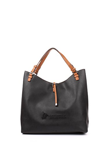 Greenwich Polo Club PG16W13407 Hobo Bag Donna Ecopelle/cuoio Nero Nero PZ