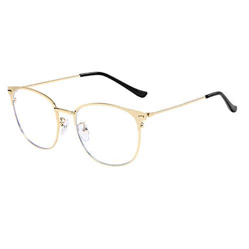 fazry Runde optische Brille Light Block Brille nicht verschreibungspflichtiger Brillenrahmen für Männer oder Frauen Gr. Einheitsgröße, gold