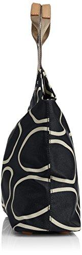 Orla Kiely0Etclin024 - Borsa con Maniglia Donna Noir (Liqourice)