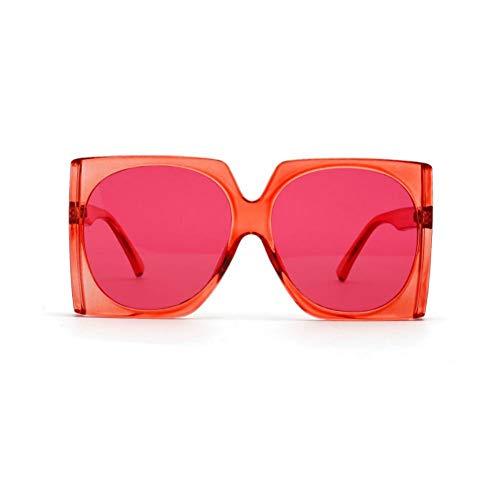 SYQA Mode übergroßen Leoparden Rahmen quadratische weibliche Sonnenbrille Retro Neue Sonnenbrille für die Dame mit Box,C3