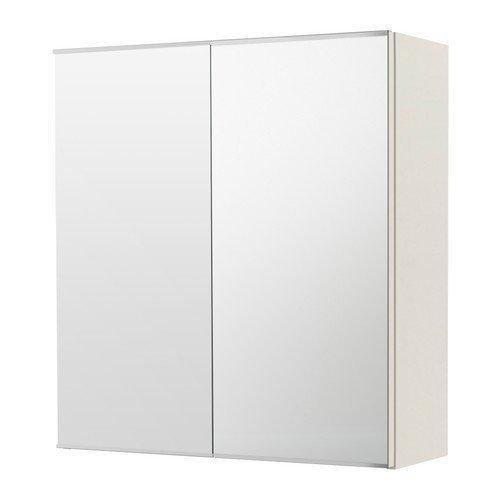 Ikea lillången Espejo Armario con 2puertas; en blanco; (60x 21x 64cm)