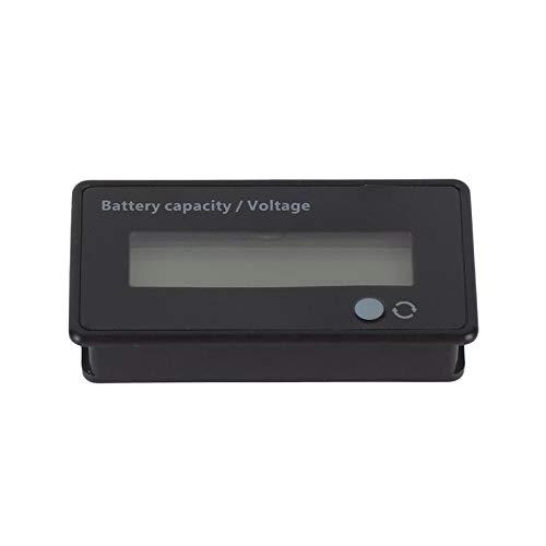 LCD Battery Capacity Monitor Gauge Meter Lead Acid Battery Status Backlight  Indicator Lithium Battery Power Capacity Tester(black)