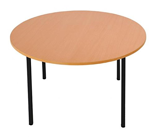 Runder Schreibtisch Besprechungstisch Büromöbel Ø =1200 mm Ahorn Dekor 338501