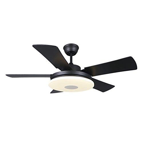 LQ LED-Ventilator Licht Deckenventilator Licht Wohnzimmer Esszimmer Schlafzimmer Küche Retro Einfache elektrische Ventilator Lampe Ventilator Kronleuchter Hohe Helligkeit Große Luftstrom glatt und lei -