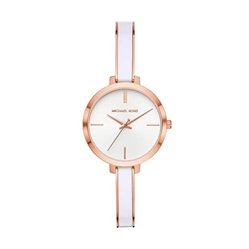 Michael Kors Damen Analog Quarz Uhr mit Edelstahl Armband MK4342
