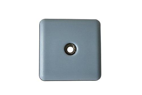 GLEITGUT 4 x Teflongleiter zum Schrauben eckig 50 x 50 mm - PTFE Möbelgleiter - 5 mm stark