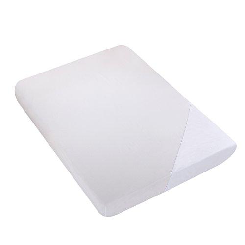 Preisvergleich Produktbild Spannbettlaken 100% Baumwolle Spannbetttuch für Standard-Matratzen Bequem Höhe 30cm,  200 x 200 cm Weiß (nach Öko-Tex Standard 100)