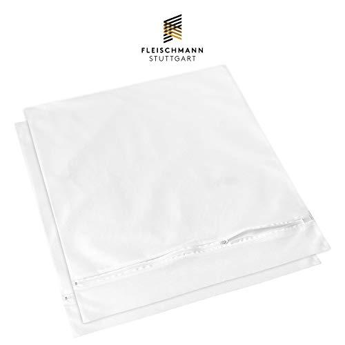 Fleischmann Waschmaschine Wäschesack 2 STK. I XXL Wäschenetz I Schutz für Micorfaser, empfindliche Wäsche und Schuhe I 50 x 55 cm I Wäschebeutel zum Wäsche waschen