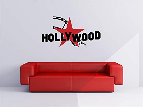 wandaufkleber 3d spiegel wandaufkleber schlafzimmer movie wall decal Hollywood Star and Film Strip for home theater