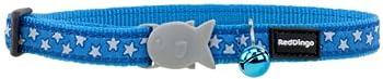 RED DINGO Collier pour Chat Bleu Etoiles Blanc 20-32 12 mm