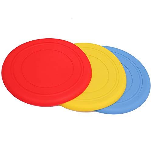 XIHONGSHIR Hundefrisbee, Bissstarke Hunde Frisbee, Interaktive Outdoor Spielzeug, Fetch Catch Floppy Spielzeug, Für Mittlere Und Große Hunde (3 Stück),Randomcolor,17.5cm -